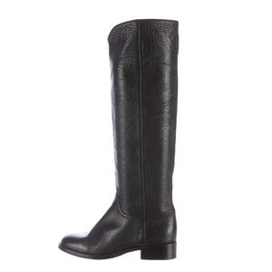 Chanel Grained Leather Boots Size 38